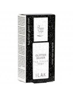 New Top finish Glitter Silver I-LAK - 11ml Peggy Sage
