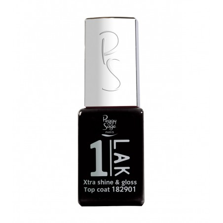 Xtra Shine and Glossy Top Coat One LAK 11ml Peggy Sage